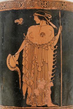 La déesse Athéna et sa chouette. Source : http://data.abuledu.org/URI/535440ec-la-deesse-athena-et-sa-chouette