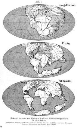 La dérive des continents de Wegener. Source : http://data.abuledu.org/URI/5094f595-la-derive-des-continents-de-wegener