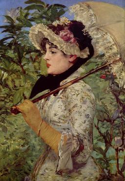 La femme à l'ombrelle. Source : http://data.abuledu.org/URI/539a195d-la-femme-a-l-ombrelle