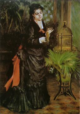 La Femme à la perruche de Renoir. Source : http://data.abuledu.org/URI/5859829e-la-femme-a-la-perruche-de-renoir
