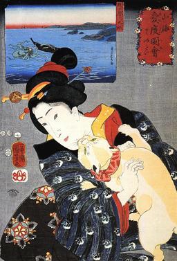 La femme au chat. Source : http://data.abuledu.org/URI/5310cced-la-femme-au-chat