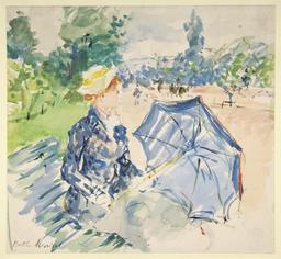 La femme au parapluie. Source : http://data.abuledu.org/URI/539ff407-la-femme-au-parapluie