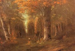 La forêt à l'automne. Source : http://data.abuledu.org/URI/47f4bd1b-la-for-t-l-automne