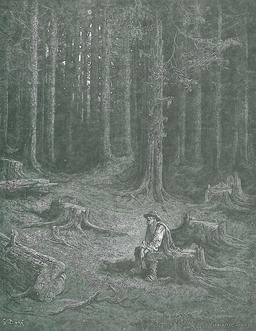 La Forêt et le Bucheron. Source : http://data.abuledu.org/URI/519cc311-la-foret-et-le-bucheron
