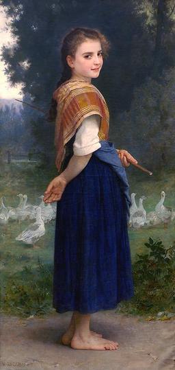 La gardienne d'oies. Source : http://data.abuledu.org/URI/515fcc22-la-gardienne-d-oies