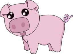 La grande course - Cochon rose. Source : http://data.abuledu.org/URI/555fc3dd-la-grande-course-cochon-rose