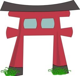 La grande course - Porte shinto. Source : http://data.abuledu.org/URI/555fc8f1-la-grande-course-porte-shinto