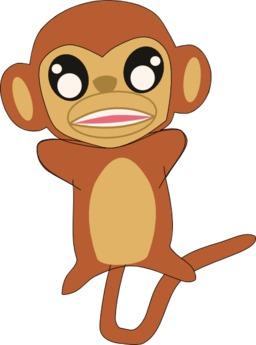 La grande course - Singe de face. Source : http://data.abuledu.org/URI/555fca60-la-grande-course-singe-de-face