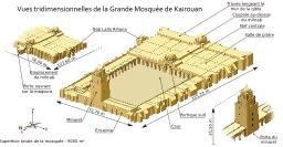 La grande mosquée de Kairouan. Source : http://data.abuledu.org/URI/50814bc7-la-grande-mosquee-de-kairouan