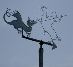La légende de Saint Georges en girouette. Source : http://data.abuledu.org/URI/5827ea3c-la-legende-de-saint-georges-en-girouette
