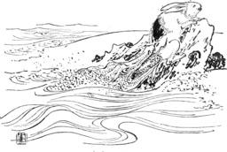 La légende japonaise du lièvre blanc d'Inaba. Source : http://data.abuledu.org/URI/556f6950-la-legende-japonaise-du-lievre-blanc-d-inaba