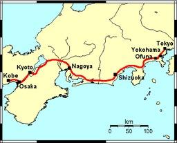 La ligne du Tokaido. Source : http://data.abuledu.org/URI/513f12dc-la-ligne-du-tokaido