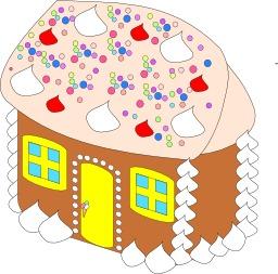 La maison en pain d'épices d'Hansel et Gretel. Source : http://data.abuledu.org/URI/534ec0c6-la-maison-en-pain-d-epices-d-hansel-et-gretel