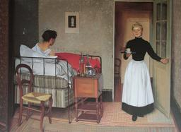 La malade au lit en 1892. Source : http://data.abuledu.org/URI/535ea63c-la-malade-au-lit-en-1892