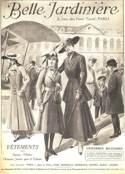 La mode parisienne en 1915. Source : http://data.abuledu.org/URI/58607f61-la-mode-parisienne-en-1915