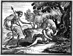 La mort et le malheureux. Source : http://data.abuledu.org/URI/510c2b6f-la-mort-et-le-malheureux