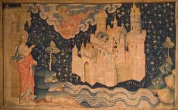 La nouvelle Jérusalem de la tapisserie de l'apocalypse. Source : http://data.abuledu.org/URI/56dd9b2e-la-nouvelle-jerusalem-de-la-tapisserie-de-l-apocalypse