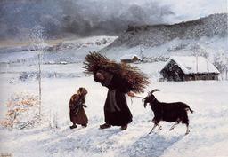 La pauvre femme du village. Source : http://data.abuledu.org/URI/47f4bd14-la-pauvre-femme-du-village