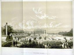 La pépinière de Gentbrugge en 1850. Source : http://data.abuledu.org/URI/539cd0a6-la-pepiniere-de-gentbrugge-en-1850