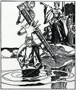 La perte d'Excalibur en 1903. Source : http://data.abuledu.org/URI/5950436c-la-perte-d-excalibur-en-1903