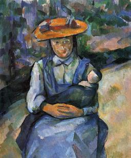 La petite fille au tablier bleu. Source : http://data.abuledu.org/URI/50fb3045-la-petite-fille-au-tablier-bleu