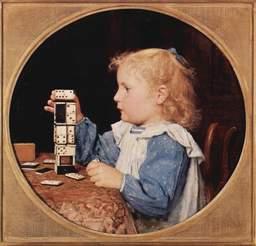 La petite fille aux dominos. Source : http://data.abuledu.org/URI/502c1157-la-petite-fille-aux-dominos