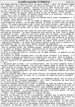 La petite poucette. Source : http://data.abuledu.org/URI/5110b8a3-la-petite-poucette