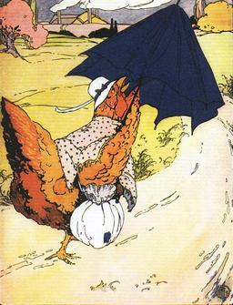 La petite poule rousse rapporte la farine. Source : http://data.abuledu.org/URI/50eee961-la-petite-poule-rousse-rapporte-la-farine
