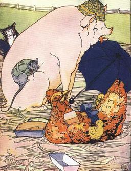 La petite poule rousse se régale. Source : http://data.abuledu.org/URI/50eeeb78-la-petite-poule-rousse-se-regale