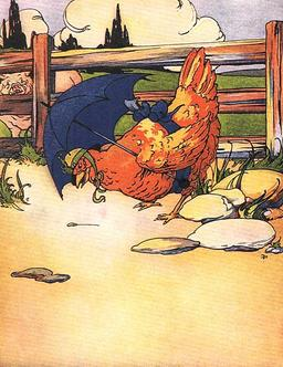 La petite poule rousse trouve un grain de blé. Source : http://data.abuledu.org/URI/50eede70-la-petite-poule-rousse-trouve-un-grain-de-ble