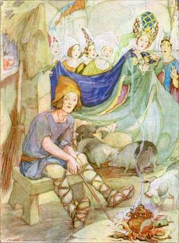 La princesse et le porcher. Source : http://data.abuledu.org/URI/51aa8912-la-princesse-et-le-porcher