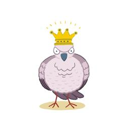 La reine des oiseaux de face. Source : http://data.abuledu.org/URI/5629ebbc-la-reine-des-oiseaux-de-face