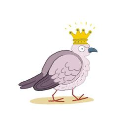 La reine des oiseaux de profil. Source : http://data.abuledu.org/URI/5629ec7b-la-reine-des-oiseaux-de-profil