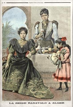 La reine Ranavalona III en exil à Alger. Source : http://data.abuledu.org/URI/522e2681-la-reine-ranavalona-iii-en-exil-a-alger