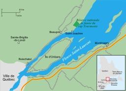La réserve du Cap Tourmente au Québec. Source : http://data.abuledu.org/URI/50fddff1-la-reserve-du-cap-tourmente-au-quebec
