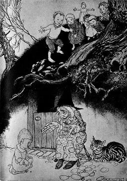 La sorcière du noisetier. Source : http://data.abuledu.org/URI/502d7938-la-sorciere-du-noisetier