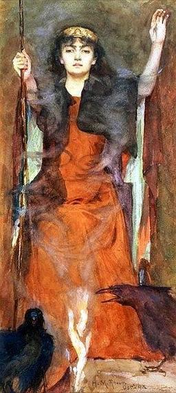 La sorcière et les corbeaux. Source : http://data.abuledu.org/URI/528d6260-la-sorciere-et-les-corbeaux