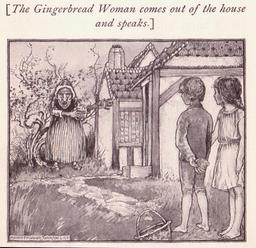 La sorcière interpelle Hansel et Gretel. Source : http://data.abuledu.org/URI/534ebf97-la-sorciere-interpelle-hansel-et-gretel