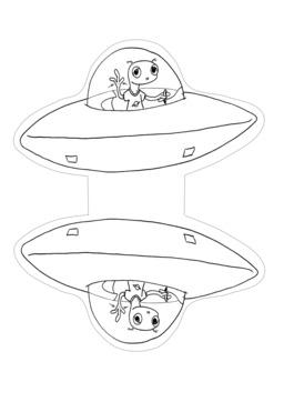 La soucoupe du Petit Vénusien en papertoy. Source : http://data.abuledu.org/URI/58d7c90b-la-soucoupe-du-petit-venusien-en-papertoy