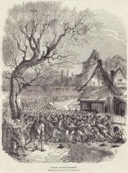 La soule en Basse Normandie en 1852. Source : http://data.abuledu.org/URI/53f44e2c-la-soule-en-basse-normandie-en-1852