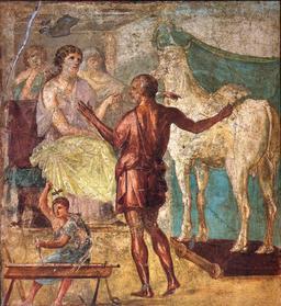La statue de vache de Dédale. Source : http://data.abuledu.org/URI/52a64e43-la-statue-de-vache-de-dedale