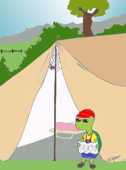La tarentule et la tortue. Source : http://data.abuledu.org/URI/5384cb70-la-tarentule-et-la-tortue