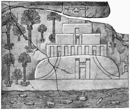 La Tour de Babel d'après un bas-relief assyrien. Source : http://data.abuledu.org/URI/52a6c7e0-la-tour-de-babel-d-apres-un-bas-relief-assyrien
