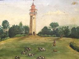 La tour de Fourc à Cestas. Source : http://data.abuledu.org/URI/566f0b1d-la-tour-de-fourc-a-cestas-