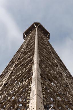 La Tour Eiffel depuis le deuxième étage. Source : http://data.abuledu.org/URI/56e5b6f7-la-tour-eiffel-depuis-le-deuxieme-etage