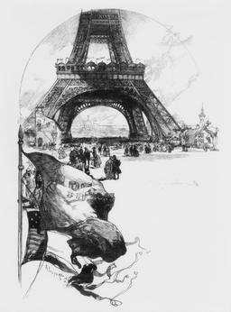La Tour Eiffel en 1889. Source : http://data.abuledu.org/URI/5344705c-la-tour-eiffel-en-1889