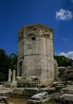 La tour octogonale des vents à Athènes. Source : http://data.abuledu.org/URI/517ff26b-la-tour-octogonale-des-vents-a-athenes