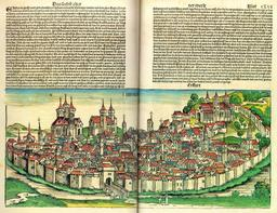 La ville d'Erfurt en 1493. Source : http://data.abuledu.org/URI/52952775-la-ville-d-erfurt-en-1493