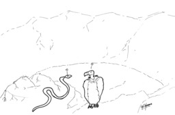 La vipère et le vautour. Source : http://data.abuledu.org/URI/536f61ff-la-vipere-et-le-vautour