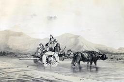 Laboureurs en Azerbaïdjan en 1840. Source : http://data.abuledu.org/URI/56523266-laboureurs-en-azerbaidjan-en-1840